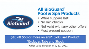 BioGuard coupon for May 2021